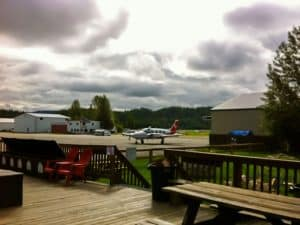Photo of airplane on tarmac in Talkeetna Alaska